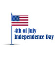 4th july independence day festive banner vector image vector image