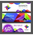 a set of horizontal banners with abstract full vector image