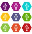 artificial intelligence robot icon set color vector image vector image