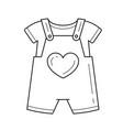 baby romper line icon vector image vector image