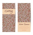 banners brochures set Knitting pattern vector image vector image