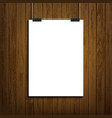 blank white paper sheet template vector image