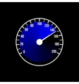 Blue speedometer design on a black vector image vector image