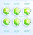 business infographic abstract concept vector image vector image