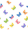 butterflies seamless pattern vector image vector image