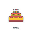 cake icon creative 2 colors design fromcake icon vector image vector image