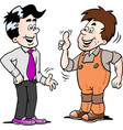 cartoon two men there has agreed a deal vector image vector image