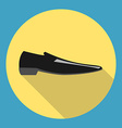 Classic black man shoe vector image vector image