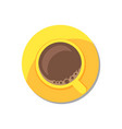 coffee in golden tableware vector image vector image