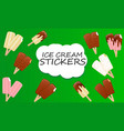 collection ice cream vector image