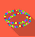 colored beadshippy single icon in flat style vector image vector image