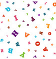 colorful letter seamless pattern on white vector image vector image