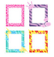 comic frames in cartoon style decorative vector image vector image