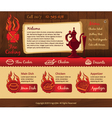 Cooking vintage web template vector image vector image