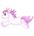 Cute horse princess running vector image vector image