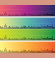 damascus multiple color gradient skyline banner vector image vector image