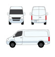 Delivery van white three sides vector image vector image