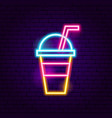 drink neon sign vector image