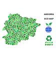 ecology green mosaic andorra map vector image vector image