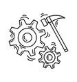 ecommerce development icon hand drawn icon set vector image vector image
