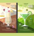 flat style cocktail menu design vector image