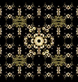 golden snowflake simple seamless pattern golden vector image