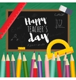 Greeting card happy teachers day vector image