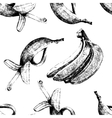 Hand drawn bananas seamless vector image