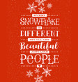 hand drawn snowflakes and inspiring quote vector image vector image