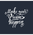 Hand lettering typography poster vector image vector image