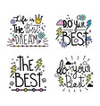 handwritten messages white background design vector image