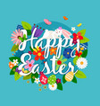 happy easter card emblem vector image
