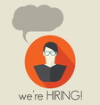 HIRING3 resize vector image vector image