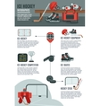 Ice hockey infographic layout banner vector image vector image
