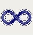 Infinity symbol vector image vector image