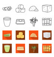 isolated object industry and sugarcane logo vector image vector image