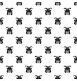 Japanese samurai mask pattern simple style vector image vector image