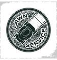 lawn service logo vector image vector image