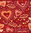 love cute heart seamless pattern vector image vector image