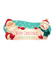 merry christmas festive holiday banner vector image
