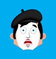 mime surprised emotion face avatar pantomime vector image vector image