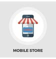 Mobile store icon flat vector image vector image