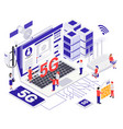 modern internet communication design concept vector image vector image