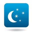 Moon and stars icon simple style vector image vector image