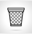 Office basket simple line icon