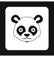 Panda icon simple style vector image vector image