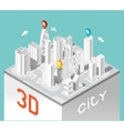Paper 3d city Isometric buildings landscape vector image vector image