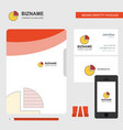 pie chart business logo file cover visiting card vector image vector image