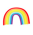 rainbow icon on white background colorful line vector image