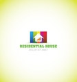 Real estate house colors logo icon vector image vector image